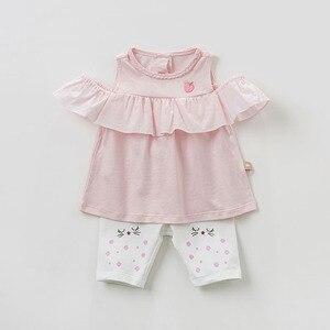 Image 2 - DBZ10529 dave bella summer baby girl clothes infant toddler sleeveless T shirt children boutique tops kids lolita tees