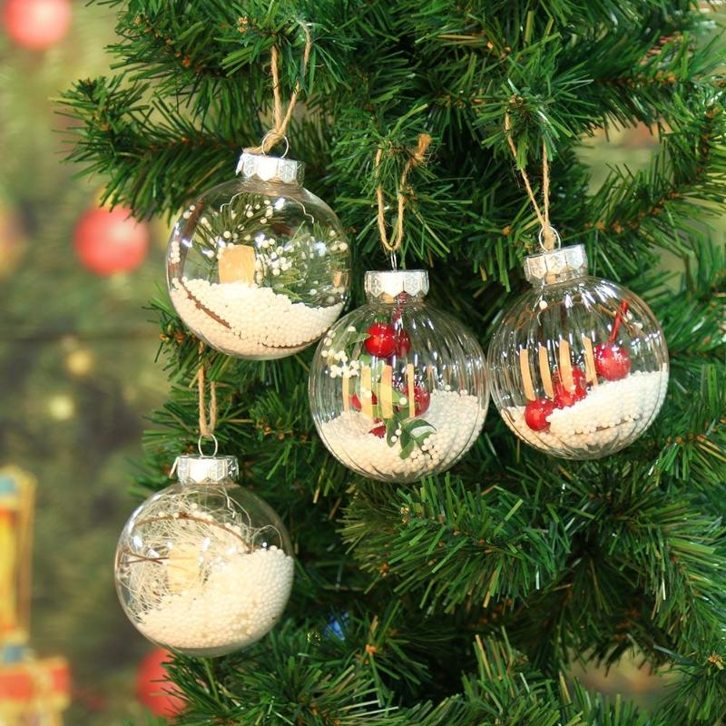 Christmas Tree Pendant Ornaments Hanging Transparency Ball ...