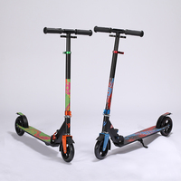 Aluminum Alloy 2 Wheel Scooters For Adults Kids Folding Portable Mini Bicycle Kick Scooter Height Adjustable