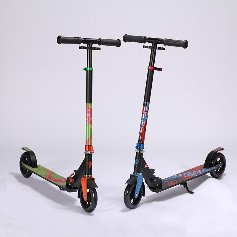 Prix pour En Alliage d'aluminium 2 Roue Scooters Pour Adultes Enfants Pliant Portable Mini Vélo Trottinette Hauteur Réglable trottinette scooter