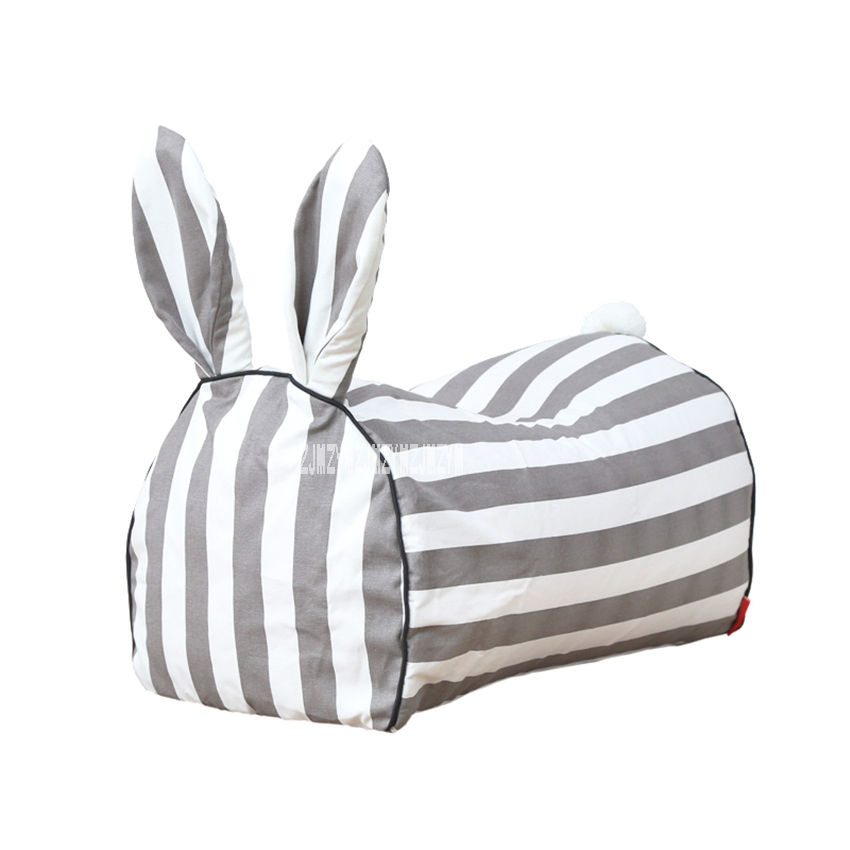 Portable Cotton Canvas Children Sofa Princess Simple Rabbit Cartoon Animal Sofa Washable Cute Bean Comfortable Baby Chair