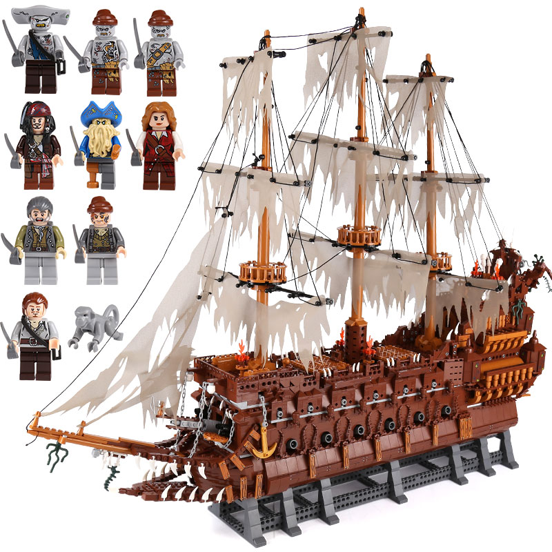 DHL Lepin 16016 3652Pcs Movies Series MOC The Flying the Netherlands Building Blocks Bricks Toys to Children birthday Gifts lepin 16016 3652pcs movie series flying the dutch blocks bricks toys for children compatible legoing pirates caribbean
