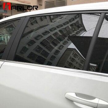 Marco de ventana de coche ABC Pillar película de Protección de fibra de carbono pegatina de estilo de coche para Volkswagen VW Golf 7 MK7 Accesorios