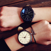 2016 New Germany Bauhaus Design Simple Sport Style Blue Ray Shockproof Leather Wristwatches Watches for Men Male Women