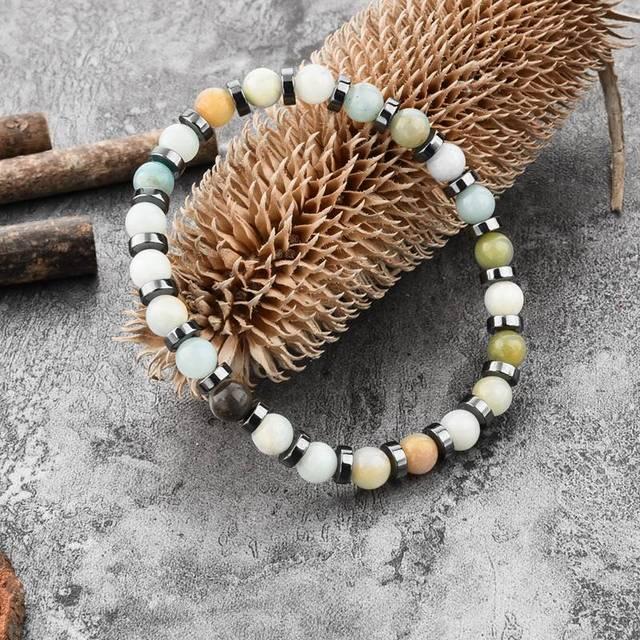 Купить женский браслет с матовым камнем картинки