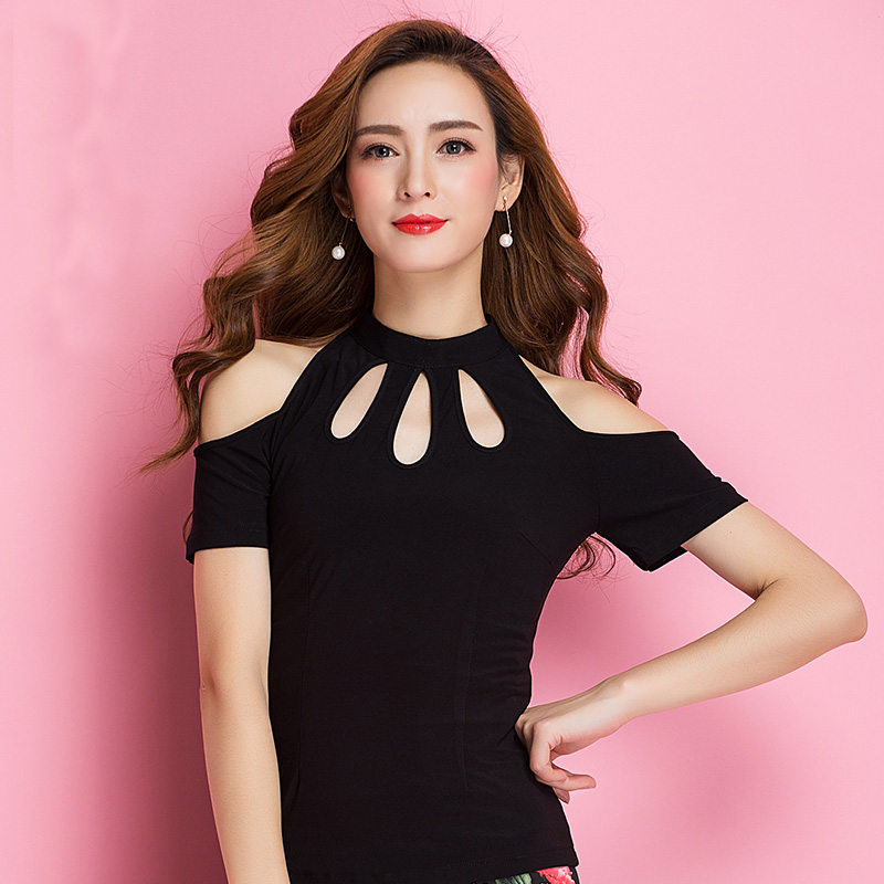 Online Shop Latest vogue Elegant modern Black Latin dance top for  women female girl fashion short sleeve performance wear upperwears yc1218    Aliexpress. Online Shop Latest vogue Elegant modern Black Latin dance top for