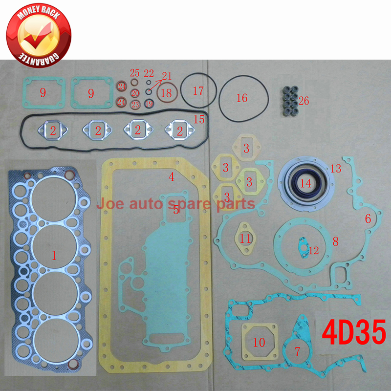 US $64 78 21% OFF|4D35 4D35T Engine Full gasket set kit for Mitsubishi Fuso  Canter ME996360-in Full Set Gaskets from Automobiles & Motorcycles on