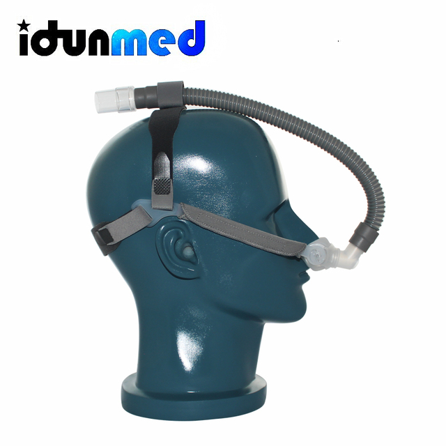 CPAP Mask Nasal Pillows Mask Respirator With Size 3 Sizes Cushions Strap Small Tubing For Sleep Apnea Anti Snoring Solution 4
