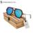 2140 óculos de sol Polarizados Dos Homens óculos de sol de madeira de bambu natural De madeira de Bambu óculos de sol Polarizados óculos de sol de madeira com caixa