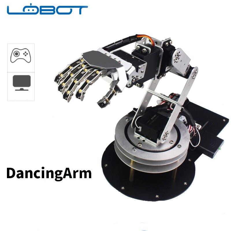 6DOF Robot Arduino bras cinq doigts alliage danse main Kit avec humanoïde télécommande RC pièces Robot jouet
