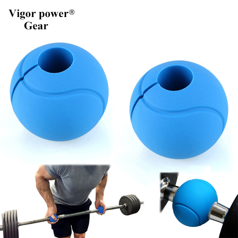 Vigor Power Gear 1 Pair 7cm Silicone Weight Lifting Barbell Ball Hand Grips For Fitness Training Hand Grips Home Gym Fitness