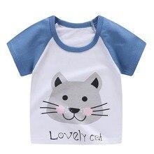 Хлопковая футболка с младенцем, повседневные футболки, топы, рубашка для мальчиков летняя футболка для маленьких мальчиков детские футболки с короткими рукавами и мультяшным принтом для девочек