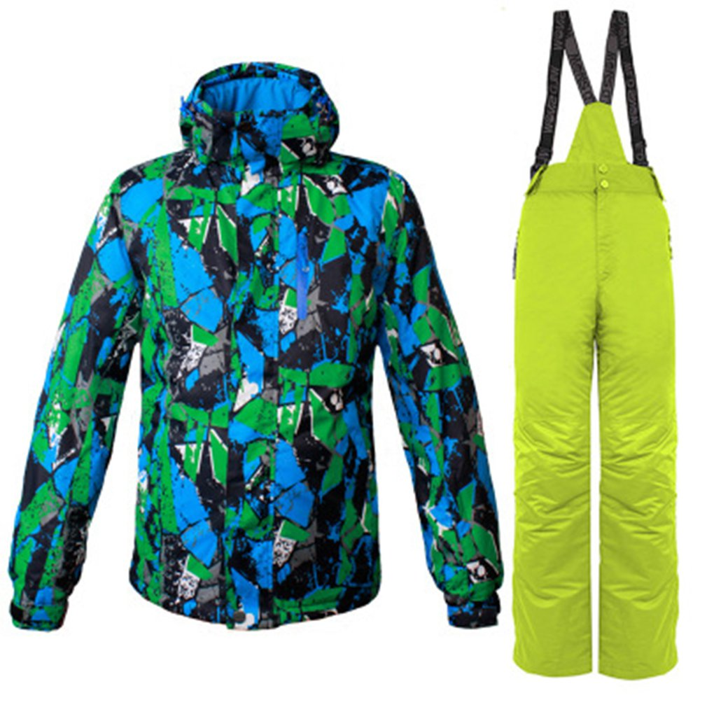 Men winter outdoor ski wear snow windproof jacket + pants hooded snowboard  suit breathable warm sportswear Hot-in Skiing Jackets from Sports    Entertainment ... 50f6cd372