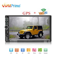 AMPrime 2 din Car Radio Android GPS Multimedia MP5 Player Bluetooth FM Autoradio 7″ HD Touch Screen Support Rear View Camera