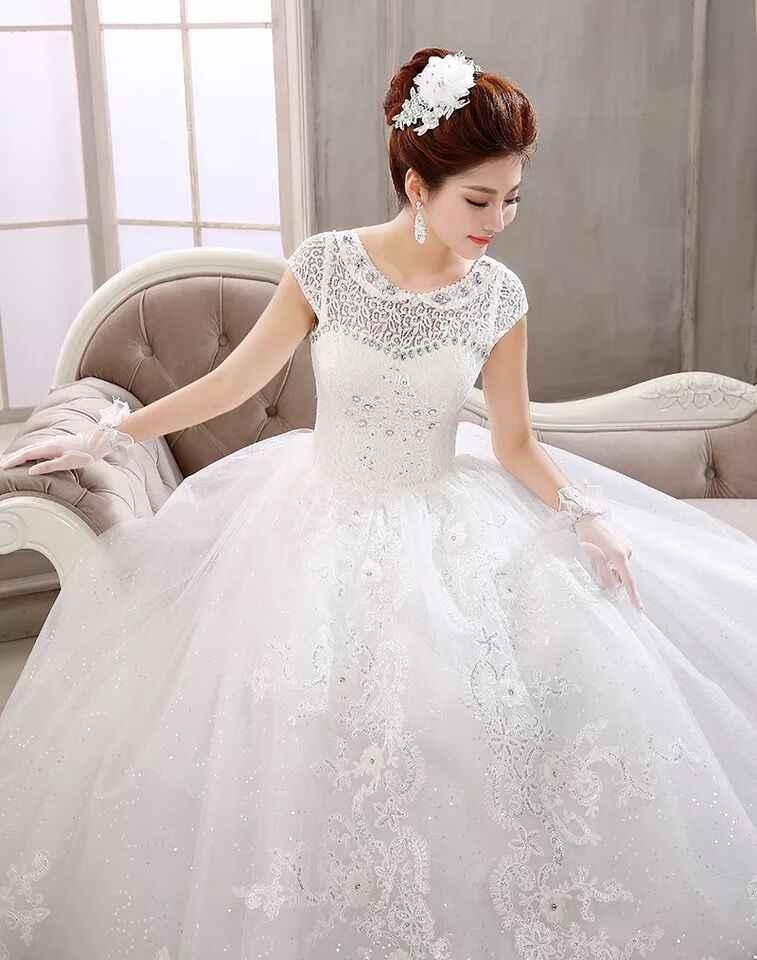 49c1e6054 ... Высокое качество сладкий бежевый Пол Длина кружево платье для свадьбы  2019 бусины принцесса банкет Свадебные платья ...