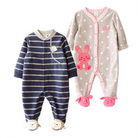 Baby Rompers Infant Boy And Girl Polar Fleece Jumpsuit Newborn Bebe Clothes Body Suit