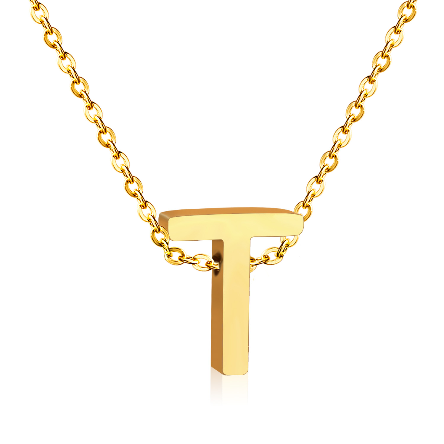diamond charm row pnd real t letter gold pendant mens initial yellow