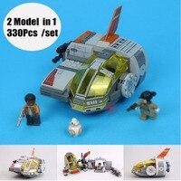 NEW Educational block building Star Wars resistance transport Pod model 330pcs fit 75176 kids toys boy birthday gift