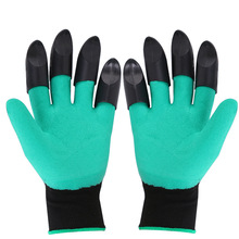 Plant Garden Gloves With Fingertips Claws Quick Easy to Dig and Plant Safe for Rose Mittens Digging Waterproof Household Gloves