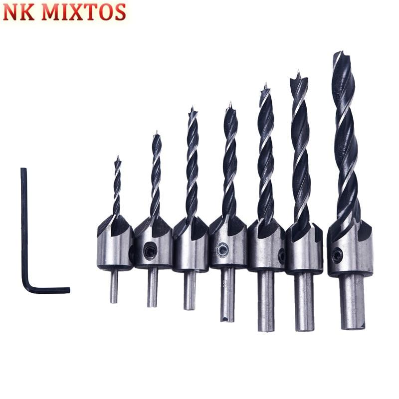 ابزارهای منبت کاری الکتریکی 7PCS ابزار - مته