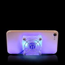 Мобильный кулер для телефона универсальный вентилятор портативный радиатор Охлаждающая подставка быстрая перезаряжаемая планшет регулируемый светодиодный освещение
