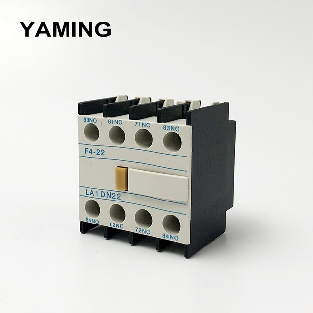 LA1-DN22 F4-22 2NO+2NC Contactor block Auxiliary The auxiliary contact for CJX2 LC1-D AC Contactor 4 Poles