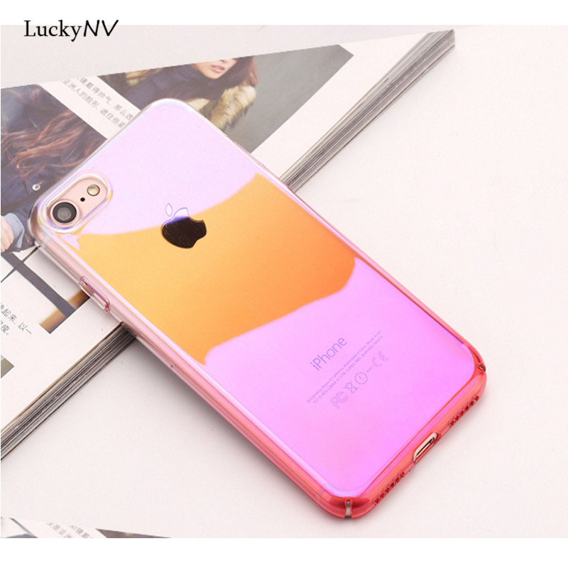 Luckynv полный охват градиент Чан S родитель ca s e защитный Coque Shell кожи S для iPhone 6, 6S, 6 plu S, 6S plu S, 7,7 plu s