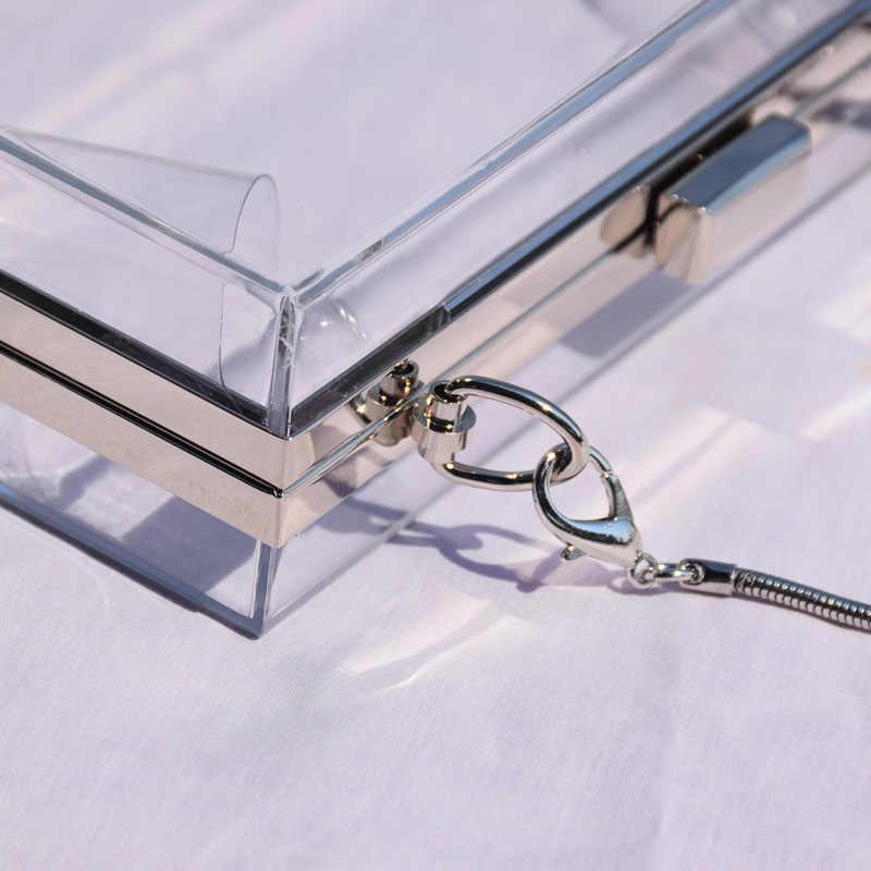 Акриловый прозрачный клатч с цепочкой для женщин сумки на плечо жесткий ежедневные клатчи Сумки Свадебная вечеринка вечерний кошелек 5 цветов