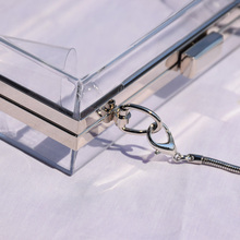 Acrylic Transparent Clutch Chain Box Women Shoulder Bags (5 Colors)