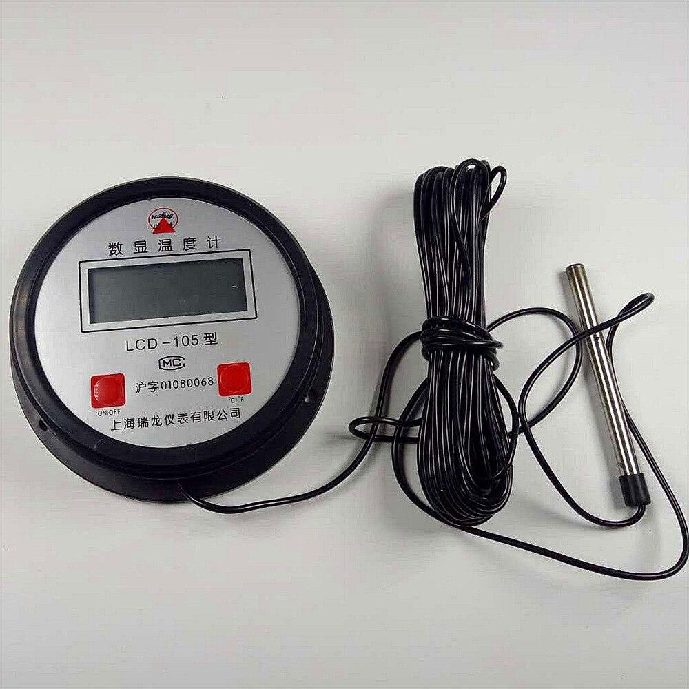 1 PC Haute Température Industrielle Chaudière Électronique Numérique Thermomètre Mètre de La Température Avec Sonde Thermomètre de L'eau
