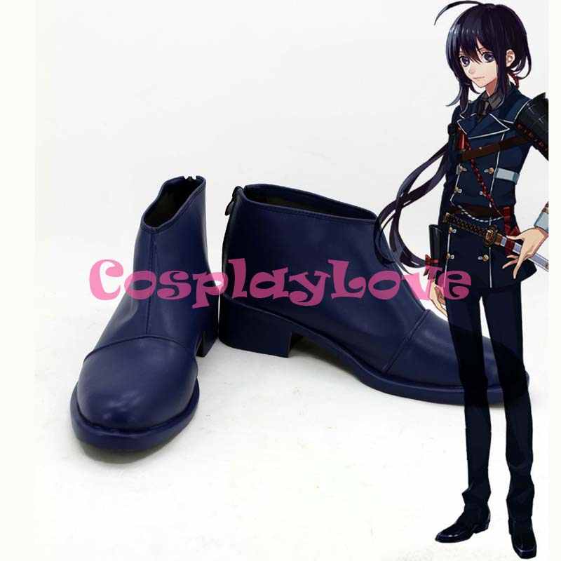 Custom Made Japanese Game Touken Ranbu Online Namazuo Toushirou Cosplay Boots Shoes For Halloween Christmas