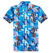 17485a04d998 Moda Praia Masculino Camisa Polo Ocasional Verão Beachwear Camisa Havaiana  Homens da Cópia Floral Camisas Pólo
