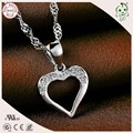 Top Quality Cheap Price Charming 100% 925 Genuine Silver Simple Love Heart Pendant