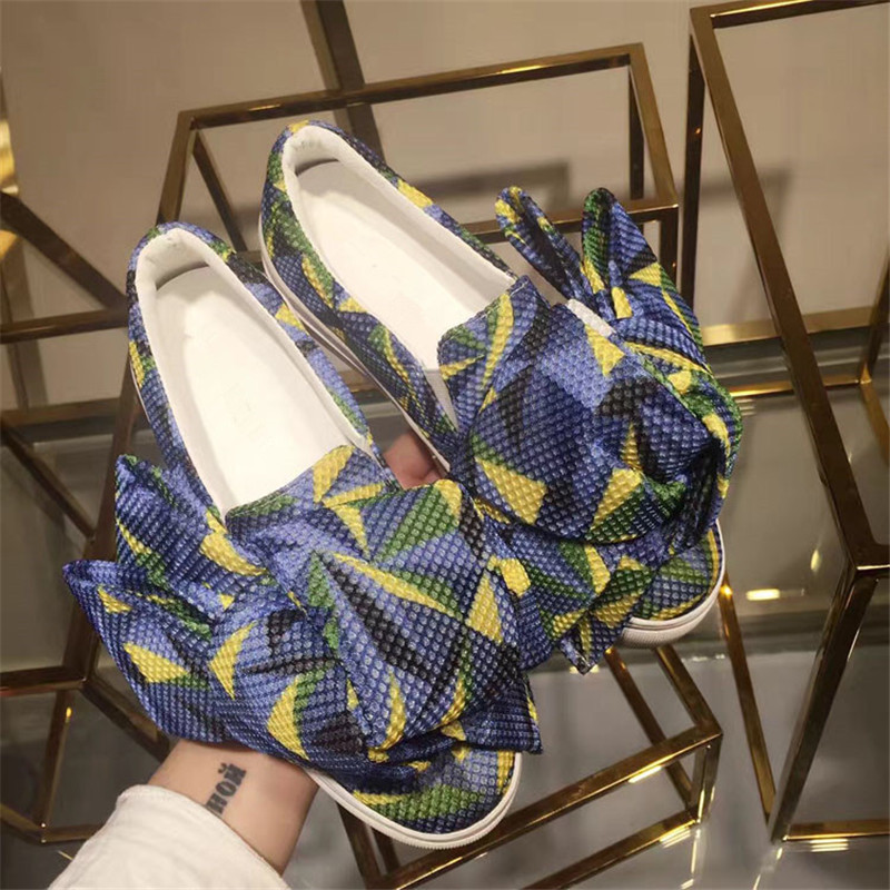 2018 Fashion Women Casual Shoes Bow Tie Decor Women Flats Platform Shoes Round Toe Slip On Cool Shoes Spring Summer Cozy Shoes цена 2017