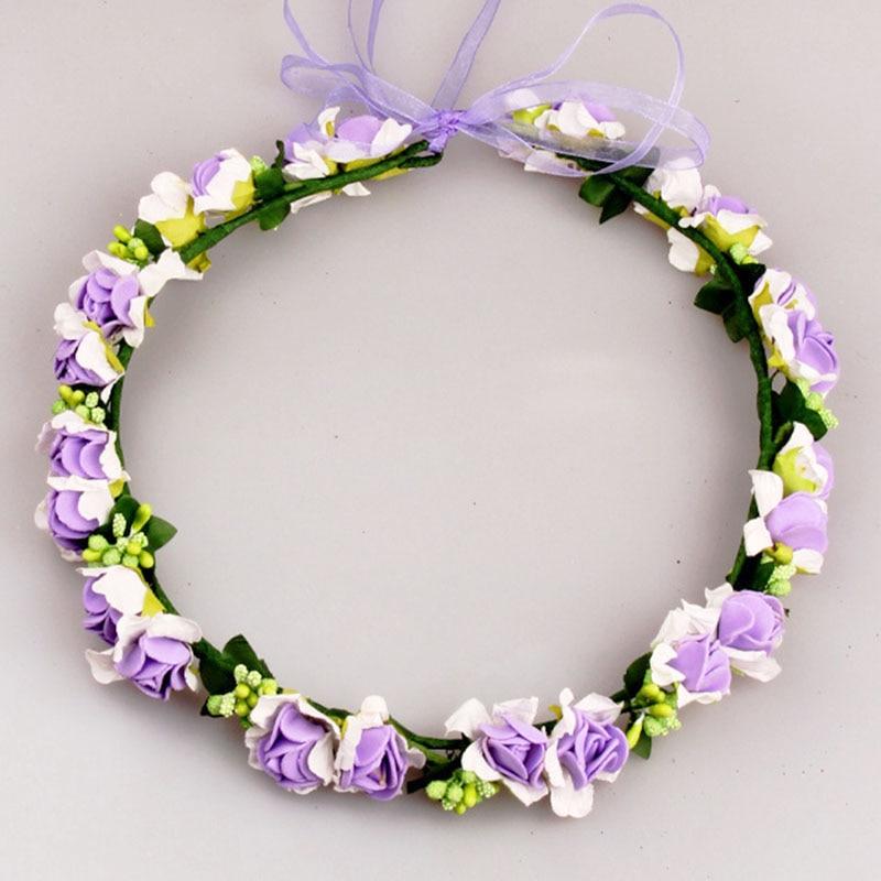 Bridal Flower Wreath Artificial Wedding Hair Garland Headpiece Children S In Accessories From Women