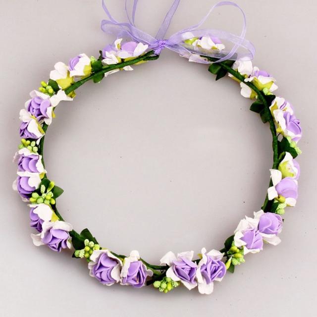 Bridal Flower Wreath Artificial Wedding Hair Flower Wreath Bridal ...