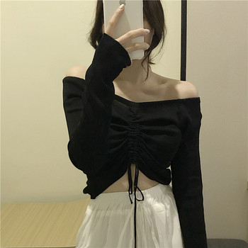 Cheap wholesale 2019 new Spring Summer Autumn Hot selling womens fashion netred casual lady beautiful nice Tops MW138