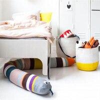Baby Bed Bumper Rainbow Snake Infant Cushion Children Play Toys Luxury Designer Bedding Set Long Baby Bumper Crib Protector