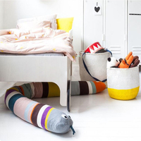 Baby Bed Bumper Rainbow Snake Infant Cushion Children Play Toys Luxury Designer Bedding Set Long Baby Bumper Crib Protector