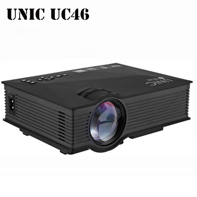 Original UNIC UC46 Wireless WIFI Mini Portable Full HD LED Video Home Cinema Projector Support Miracast DLNA Airplay US/EU Plug