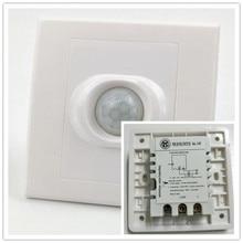 цена на new Human Body PIR Infrared Motion Sensor Switch Induction Motion Automatic Module Light Sensing Switch 200w distance adjustable
