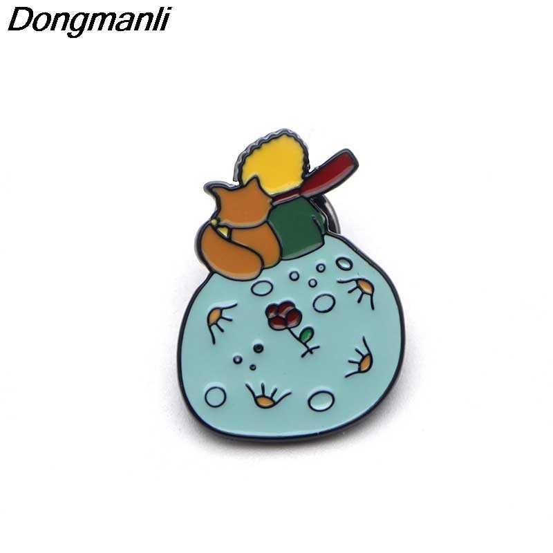 B2148 Dongmanli Dei Monili Le Petit Prince Spilli Smalto Spille per Le Donne Degli Uomini del Risvolto Spille Distintivo In Metallo Del Collare Dei Monili Regali