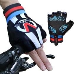 SAVA 2018 Breathable Antiskid lycra Road Cycling Gloves Half Finger Bike glove men summer spring digital print bicycle equipment
