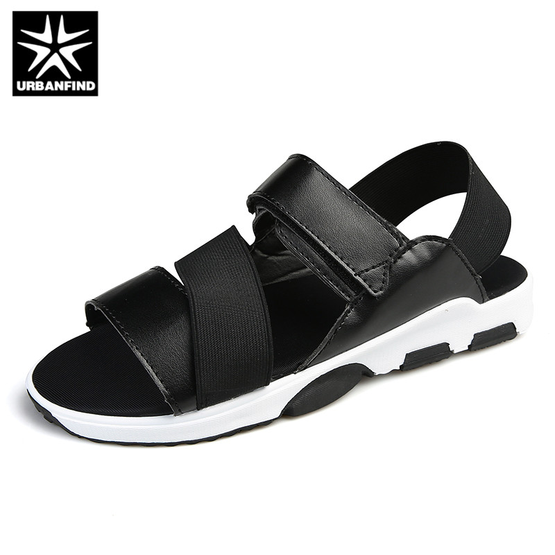 URBANFIND Fashion PU Leather Men Sandals Summer Shoes Size 39-44 Breathable Comfortable Man Casual Beach Sandals