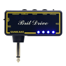 SONICAKE Amphonix Brit Drive Effects Professional Pedal Guitar Headphone untuk Pocket Amplifier Mini Amp Dengan Overdrive Terbina dalam
