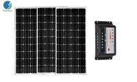 Солнечный комплект pv Панель 12 В 100 Вт 3 шт. zonnepaneel 300 Вт 36 В Контроллер заряда 12 В /24 В 30A Caravan verlichting лодка светодиодные