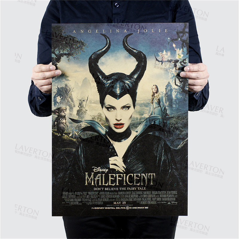 Us 1 79 10 Off Maleficent Classic Angelina Jolie Movie Kraft Paper Cafe Bar Poster Retro Poster Decorative Painting 51x35 5cm Free Shipping In Wall