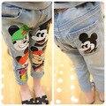 Boys and girls jeans primavera 2015 niños pantalones de dibujos animados de mezclilla de marca pantalones vaqueros de los niños al por mayor de China