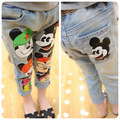 Boys and girls jeans spring 2015 kids pants cartoon denim brand pants China children's jeans wholesale