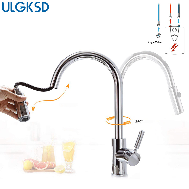 low pressure kitchen faucet aliexpress com buy ulgksd low pressure pull out kitchen faucet 360 degree rotation extractable 6375